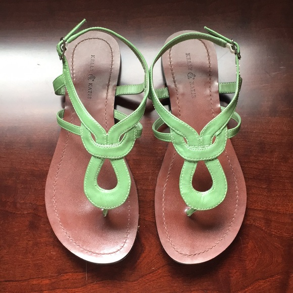 84147d0bafb7 Kelly   Katie Shoes - Kelly and Katie green sandals size 7 1 2